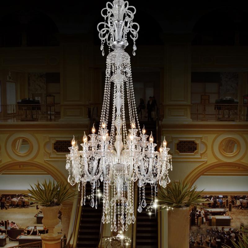 Large Candle Chandelier Big Chandelier Luxury Crystal