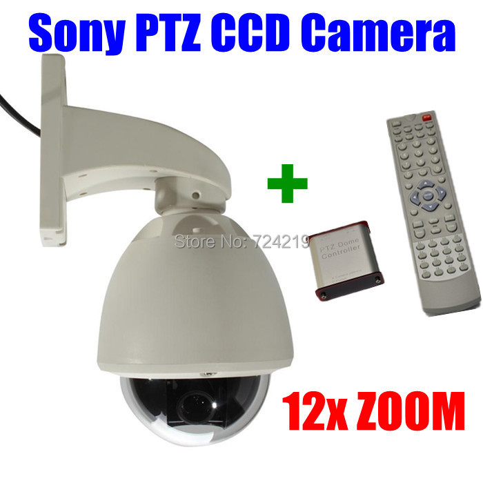 (ptz+wireless controller kit)/lot 700TVL 12X Optical ZOOM Sony Effio-e ccd Outdoor waterproof Mini PTZ Speed dome CCTV camera(China (Mainland))