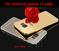 For samsung Galaxy s7 edge Luxury Mirror Aluminum Case Metal Ultra Slim Acrylic Back Cover for