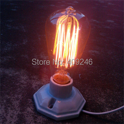 LOFT Edison Light Bulb Table Lamp Ceramic Dimming Desk Lamp (Not including bulb)(China (Mainland))