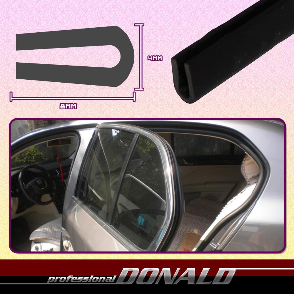 """197"""" 5M 8mmx4mm U Channel Black RV Trim Rubber Car Pillar Trailer Camper Window Door Lok Edge Seal Sound Weatherstrip Insulation(China (Mainland))"""