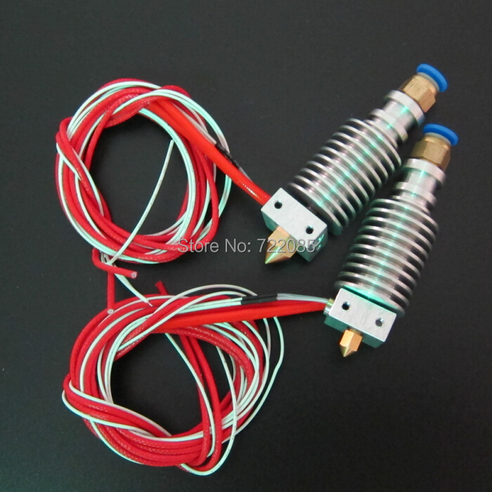 Wholesale 2pcs/lot 2014 Newest 3D Printer J-head Hotend for 1.75mm/3.0mm E3D Bowden Extruder 0.2mm/0.3mm/0.4mm Nozzle Optional(China (Mainland))