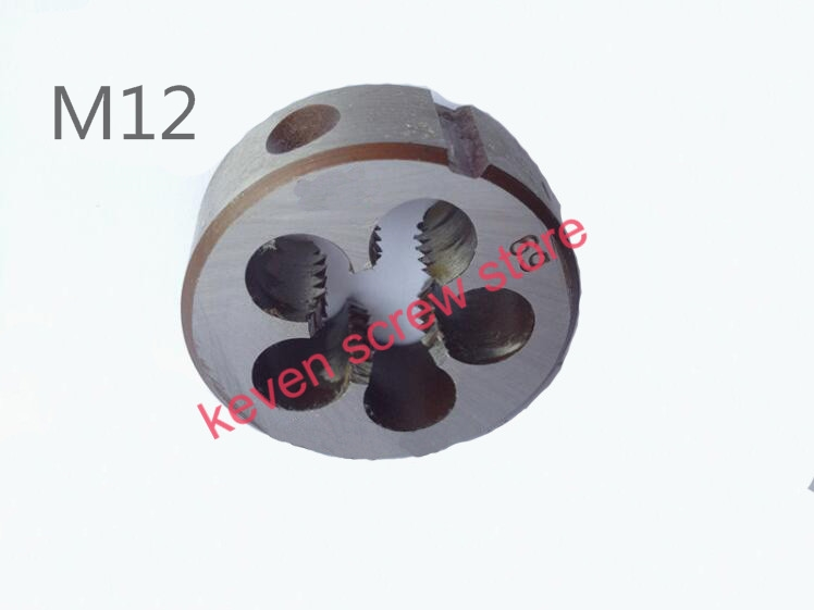FREE SHIPPING 5 PCS M12 MetricThreadDie Pitch   Multiple Property kit AlloySteel Die WrenchSet for metalworking MetalWorking DIY<br><br>Aliexpress