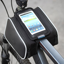 Bicycle bag pipe bag on bilateral crust color bag with mobile phone pocket bike riding equipment accessories