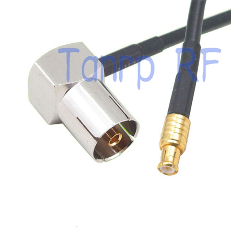 50CM Pigtail coaxial jumper RG174 extension cable 20in TV female right angle 90 degree to MCX male plug RF connector adapter(China (Mainland))