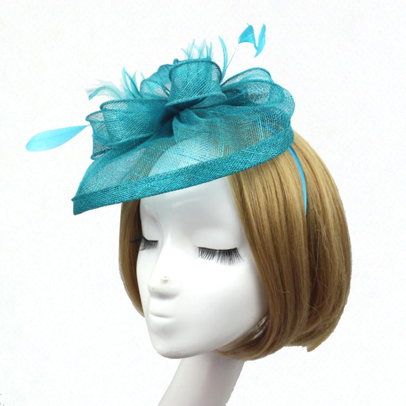 Stylish Feather Headband Fascinator Hats Ball Victorian Style Halloween Caps(China (Mainland))