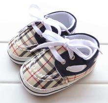Fashion Striped Grid Baby Shoes Soft Sole Infant Firstwalkers for Toddlers Boy Girl Spring Autumn 3 size Sneakers Free Shipping(China (Mainland))