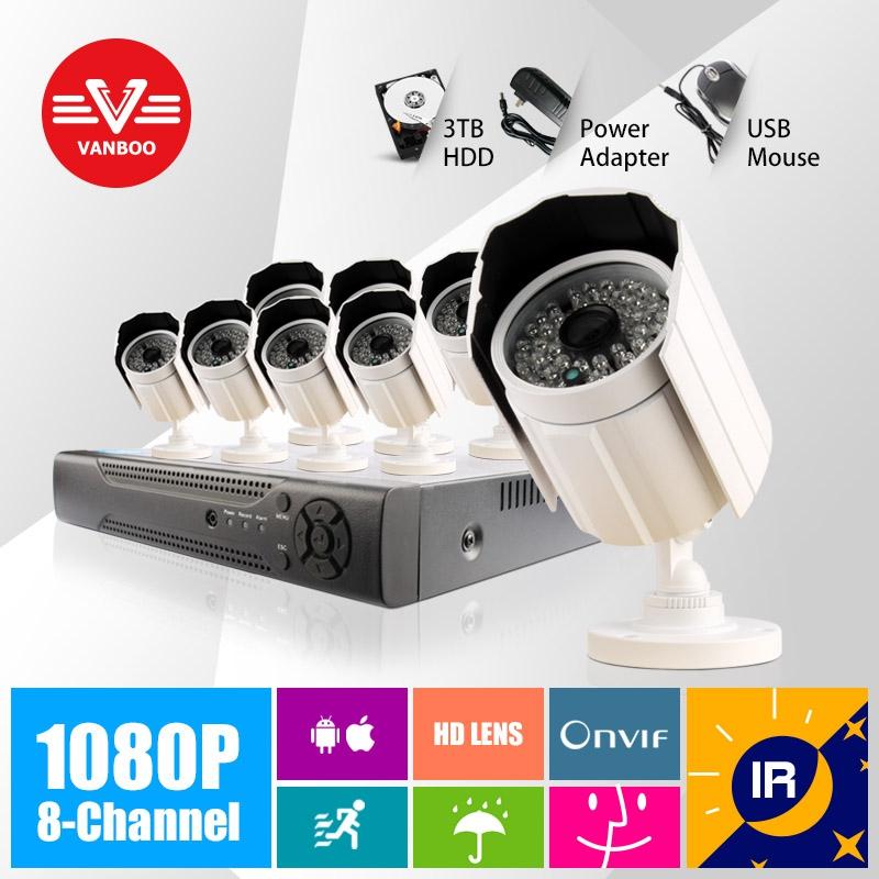 8CH 1920*1080P 2MP ONVIF 2.0 Waterproof Outdoor IR CUT Night Vision P2P Plug and Play Bullet IP Camera(China (Mainland))