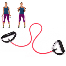 resistance exercise band tubes stretch yoga belt fitness workout pilates red for wholesale and free shipping kylin sport