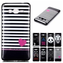 Fashion Black Soft Plastic TPU Cartoon Phone Back Cover For Samsung Galaxy Grand Prime G530 G530H Case Cell Phone Shell,XS-P031