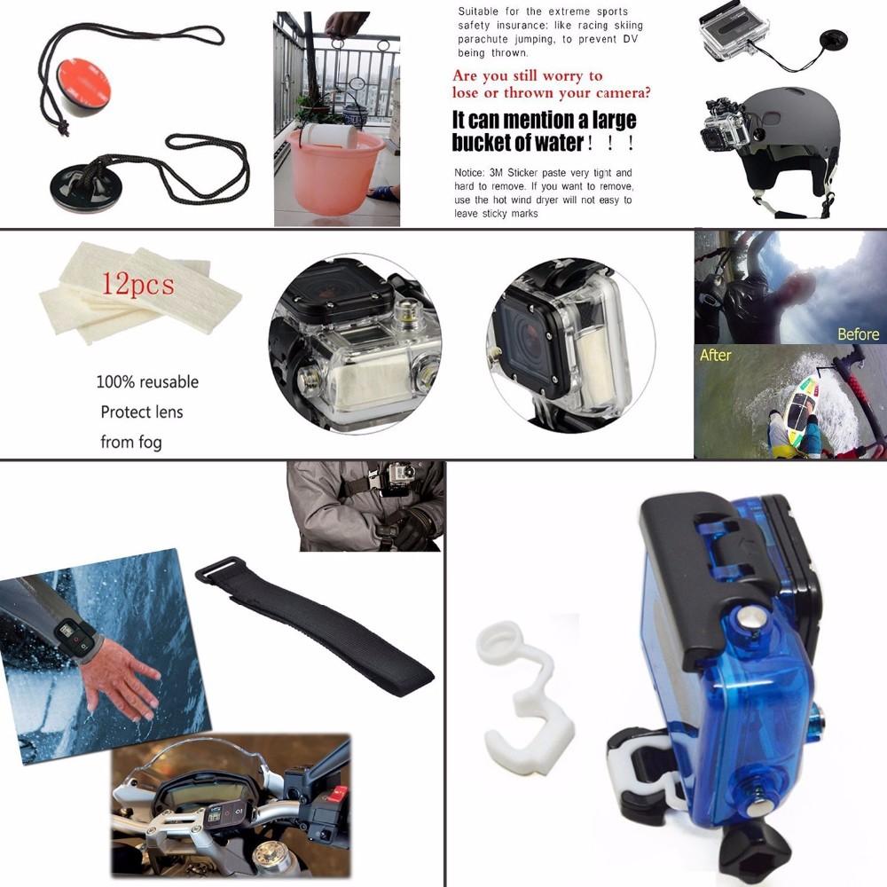 Go pro Accessories Set kit Monopod Floating Bobber Chest Strap Tripod For Gopro Hero 4 3+2 1 xiaomi yi sjcam sport camera
