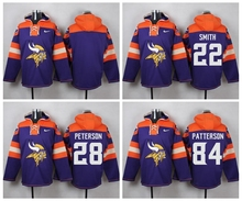minnesota vikings Teddy Bridgewater Harrison Smith Adrian Peterson Kyle Rudolph Patterson Sweater hoodies any name any numb(China (Mainland))