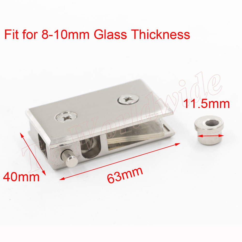 2pcs Large Hinge Fit for 8-10mm Glass Thickness 63x40mm Glass Door Hinge(China (Mainland))