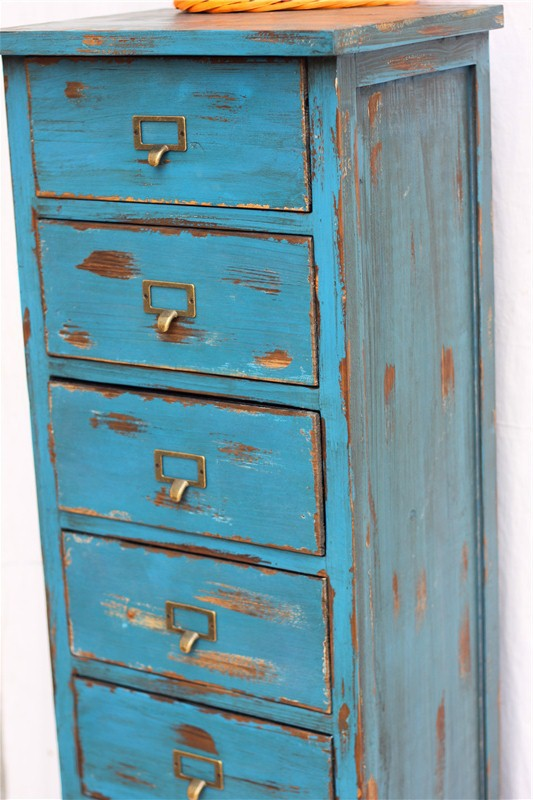 ... New Chinese American country blue Mediterranean wild retro vintage  antique wood furniture cabinets 7 big bucket ...