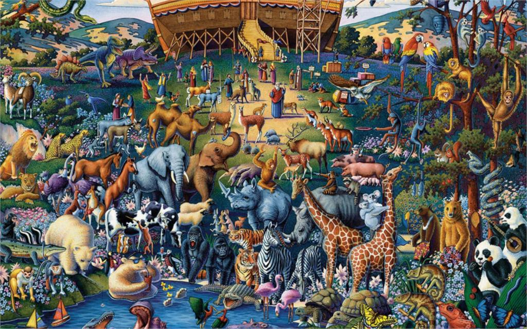 Living room home wall decoration fabric poster animal Collection Noahs Ark One(China (Mainland))