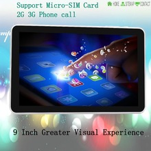 9 inch 1GB 8GB Android Tablet Wi-Fi Bluetooth  FM 3G Make Phone Call 16:9 Perfect ratio Size 800*480 HD Definition LCD 1GB RAM(China (Mainland))