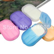 1pcs Convenient Washing Hand Bath Travel Scented Slice Sheets Foaming Box Paper Soap wholesale (China (Mainland))
