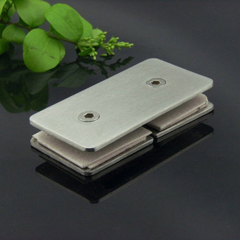 10 Pcs Fitted 180 Square Partition Yards Room Stainless Steel Glass Clamp For Shower Door Hinge For 8-12mm Thick Glass