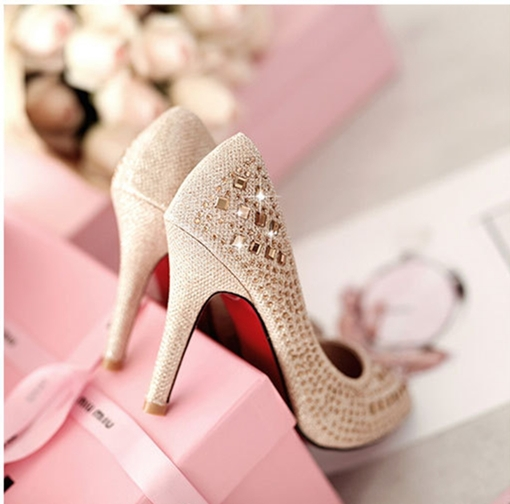 Sexy high heels woman shoes high heels zapatos mujer  pointed wedding shoes red bottom high heels women pumps bridal shoes heels