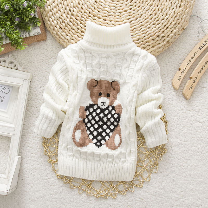 NYSRHot Sale Baby Girls Boys jumper Autumn Winter Cartoon Sweaters Kids Knitted Pullovers Turtleneck Warm Outerwear Boys Sweater(China (Mainland))