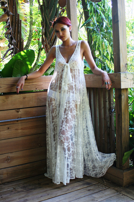 New 2015 Swimsuit Cover Up Dress Women Sexy V Neck Lace