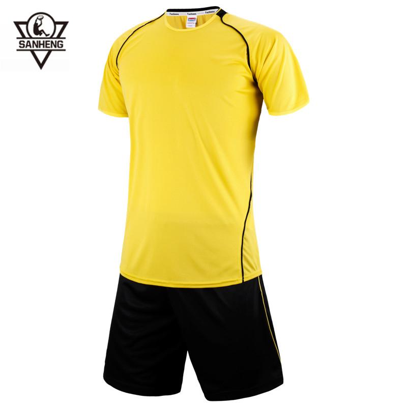 2016 New Arrival Soccer Jerseys Sets Brand SANHENG Breathable Short Football Jersey Big Size 3XS-4XL 258(China (Mainland))