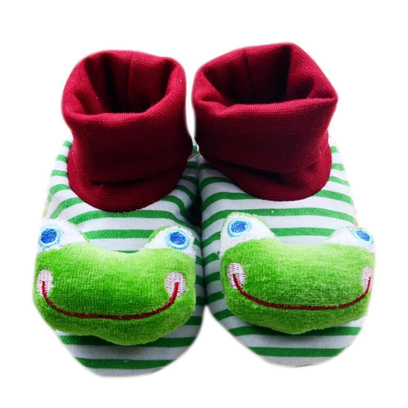 1 Pair Baby sock Anti Slip Newborn 6-18 Months Cotton Lovely Cute baby Shoes Animal Cartoon Slippers Boots Boy Girl kid Socks Y1(China (Mainland))