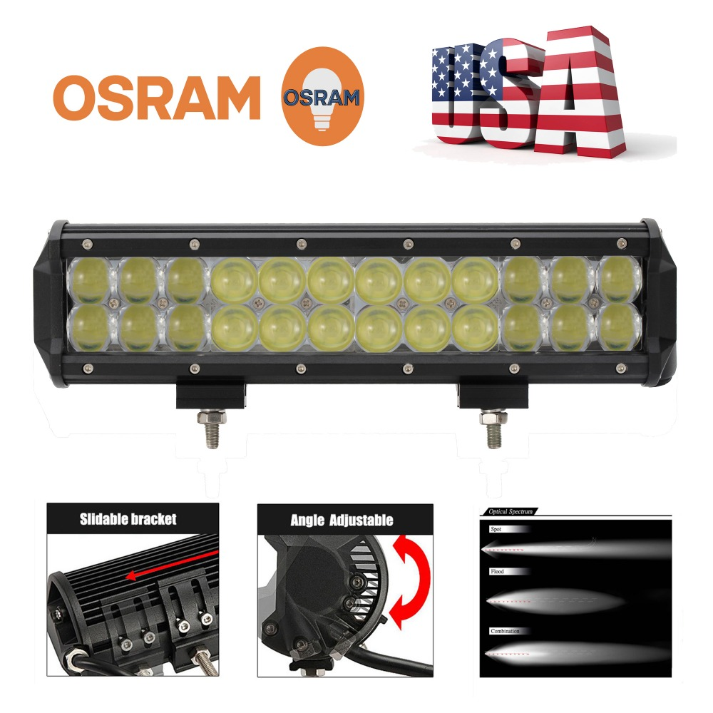 TOMALL 12Inch 4D Lens Fish Eyes OSRAM 120W LED Flood Spot COMBO Work Light Bar Offroad Driving 4WD Truck ATV 9~32V DC(China (Mainland))
