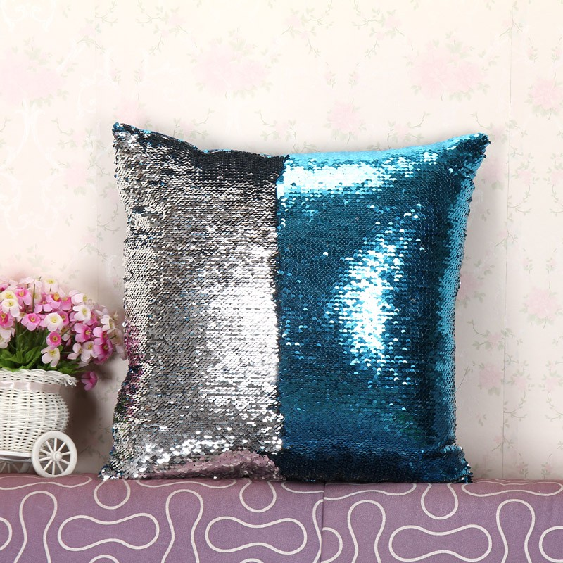 Throw Pillows Dollar General : two tone sequins throw pillows and covers continental mermaid decorative pillow cushion case ...