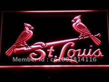 290-r St. Louis Cardinals Bar Pub LED Neon Light Sign Wholesale Dropshipping On/ Off Switch 7 colors DHL(China (Mainland))