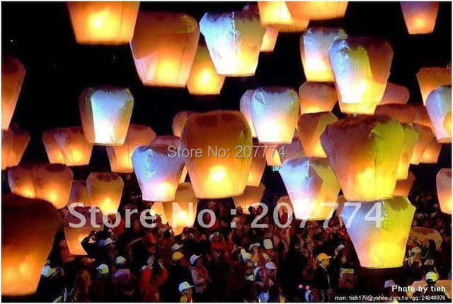 Sky Lanterns Wishing Lantern Fire Balloon Chinese Kongming Lantern For Birthday Wedding Party Gift