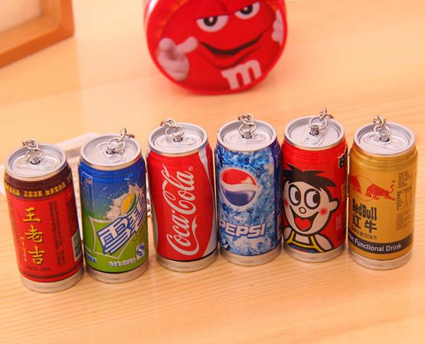 2 Pcs/Lot Creative Telescopic Cola Cans Coke ballpoint pen Kawaii Stationery ballpen Ring Office accessories school supplies(China (Mainland))