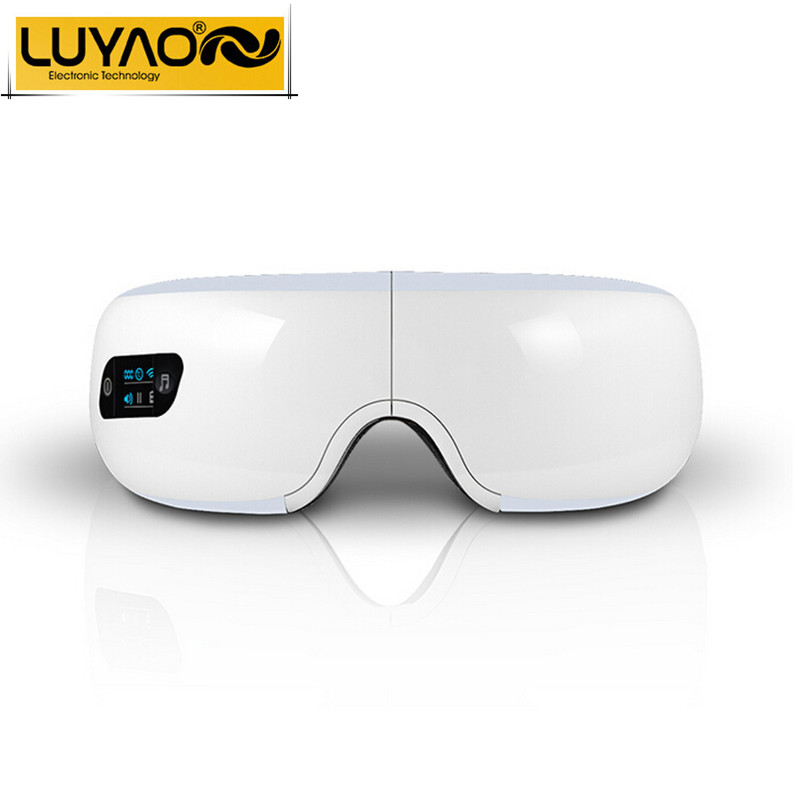 Electric Air pressure Eye massager with mp3.Wireless Vibration Magnetic heating therapy massage device.myopia care breo glasses(China (Mainland))