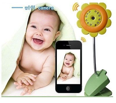 Flower WIFI Camera Baby Monitor Night Vision Function Built-in Mic support Video Record Apple Android IOS Free Shiping - Global products store