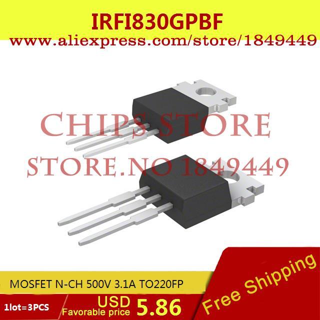 Бесплатная Доставка Электронный Регулятор Напряжения IRFI830GPBF MOSFET N-CH 500 В 3.1A TO220FP 830 IRFI830 3 ШТ.  free shipping 10pcs irfp4668pbf irfp4668 mosfet n ch 200v 130a 520w to 247ac
