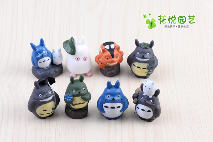 BEST SALE Toy set 8PCS/Set Hayao Miyazaki Totoro Cartoon Anime Animation Model Toy doll Excellent Gift MagicToy 0048(China (Mainland))