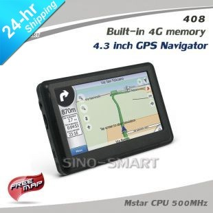 By Express 4.3 inch GPS Navigation car GPS 4GBV Nandflash RAM 128M DDR 24 languages menu free map
