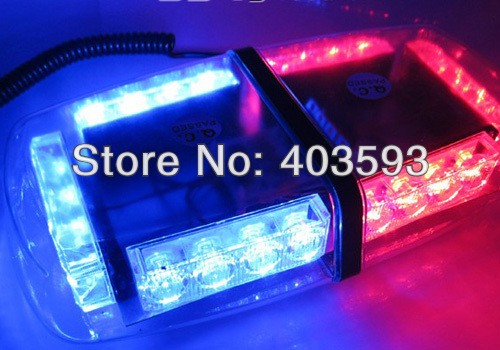 Bright Amber  24-LED Strobe Light Warning Emergency Flashing Car Truck   Construction Car Vehicle Safety 7 Flash Modes 12V<br><br>Aliexpress