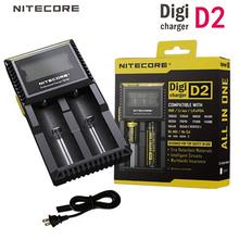 Nitecore D2 Digi cargadores LCD pantalla Digital Inteligente AA AAA 14500 16340 26650 18650 Baterías LI-ion de la energía bank Cargador