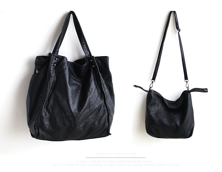 2015 blue black hot new women handbag fashion composite shoulder bags bucket messenger Bags casual bag tote shopper(China (Mainland))