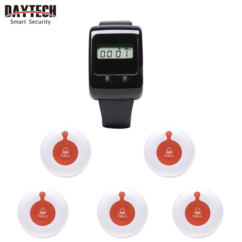 Restaurant Calling System Wireless Button Wireless Buzzer System Paging System Waiter Nurse Call System(China (Mainland))