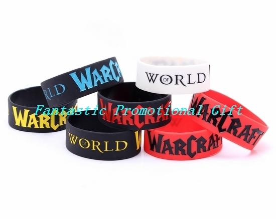 5 pcs/set, free shipping/ WORLD OF WARCRAFT / Silicone bracelet/1 inch Silicone wrist band/ BRACELET/ mix order welcome(China (Mainland))