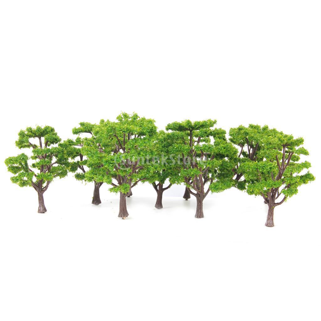 New 2015 Brand New Multi Scale Use Model Tree Scenery 10 Pcs Light Green 1/100 + 1/150 Free Shipping(China (Mainland))