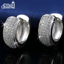 DALI Newest Style Micro Paved AAA Zircon Earrings For Women's Birthday Gift Luxury Woman Earrings DE100(China (Mainland))
