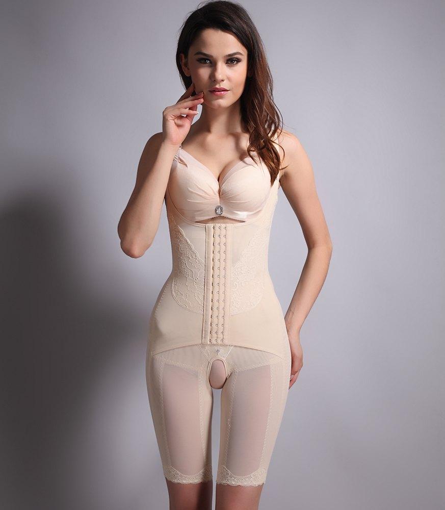 Wearable female latex body suit