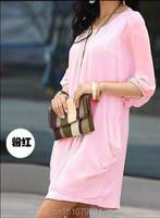 Женское платье m/5xl vestido 2015 fr hjahr neue frauen kleiden marke d nne halbarm minikleider