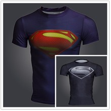 TOP sale Mens Boys Compression Armour Base Layer Short Sleeve Thermal Under Top Tee Shirt New Sports T shirt Fitness T-shirt