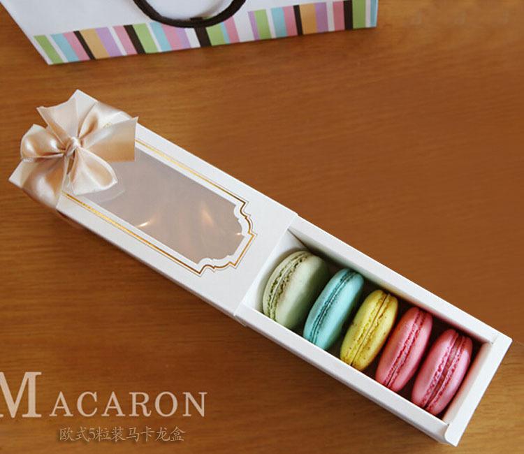 Macaron Baking packaging box transparent 5 pcs macarons box chocolate box Specifications 15.5X6.5x5cm outer diameter(China (Mainland))