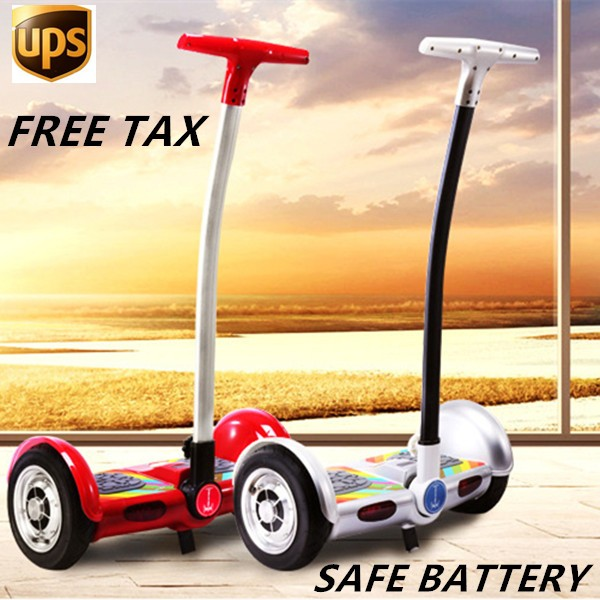 2017 10 inch Latest balance car 2 Wheel Smart Electric Self Balance Scooter with handle Hoverboard
