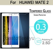 Amazing 9H 0.3mm 2.5D Curve Edge Tempered Glass screen protector For Huawei Mate 2 LCD Film HD Arc Screen Protector Cover Guard